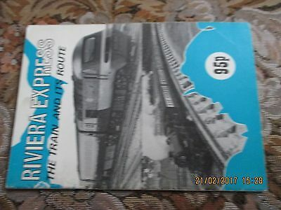 British Rail Western Original Booklet Riviera Express The Train Its Route 1979