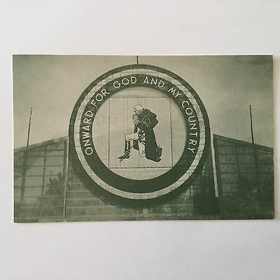 Boy Scout 1957 National Jamboree Post Card Onward For God And My Country