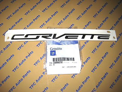 Chevrolet Corvette Rear C7 Black Emblem Genuine OEM New GM Part  2014-2017