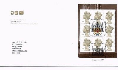 2000 Royal Mail FDC - Special by Design Booklet Pane - issued 15 February 2000