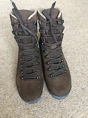 Meindl Desert Army Boots Brown Suede  Size 7 M Leather Lace Up Walking