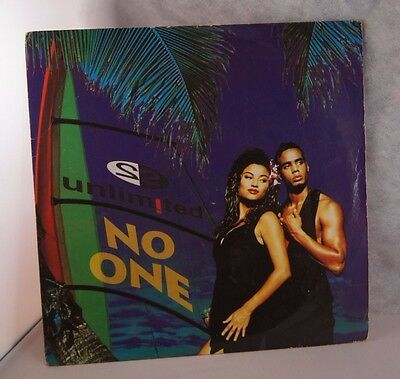"""2 Unlimited 7"""" Vinyl No One 1994"""