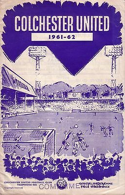 COLCHESTER v CREWE 1961/62 LEAGUE CUP