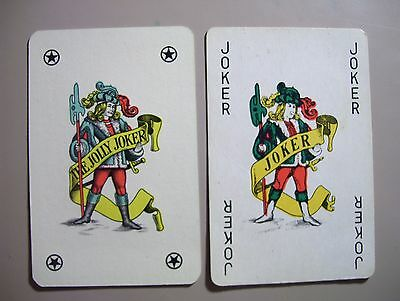 Jokers== 2 Different Vintage Single Joker Playing.cards.(New=Mint)