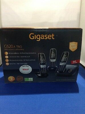 Gigaset C620A Digital Telephone and Answer Machine, Triple