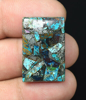20.60  Cts Natural Lovely  Silver  Azurite  Cushion Cab Loose  Gemstones