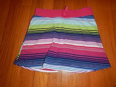EUC Children's Place Girls Striped Skort Skirt With Shorts - Size M 7/8