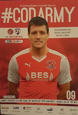 FLEETWOOD TOWN v CHESTERFIELD 2016/17