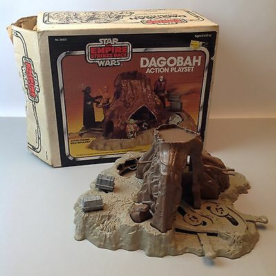 Vintage Star Wars Dagobah Playset Boxed ESB