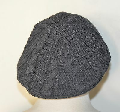 NWT Janie and Jack grey cable knit sweater newsboy hat size 4 5 boys lined