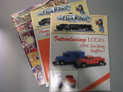 Lionel Collectors Club The Lion Roars Magazine 1996 Volume 26 Aug,Oct, and Dec