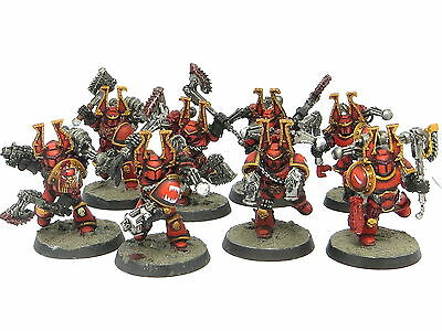 KHORNE BERZERKERS -  Painted Warhammer 40K World Eaters Chaos Space Marine Army