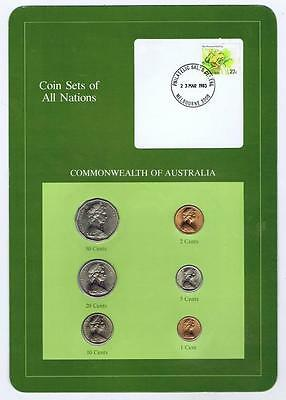 Commonwealth of Australia 6pc Mint Set 1982-83 BU Coin Sets of All Nations stamp