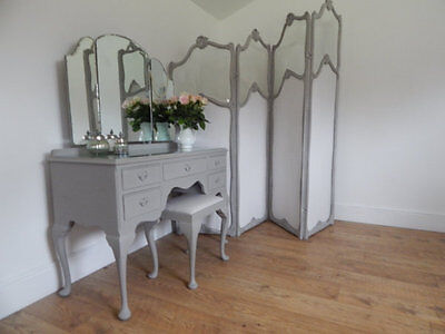Vintage dressing table and matching stool
