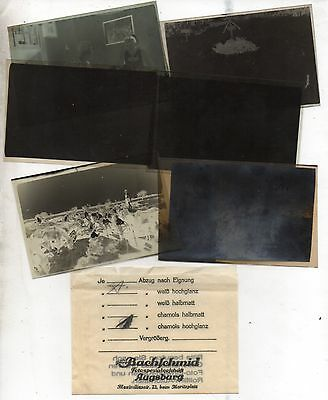 Original Ww2 German Photograph Negatives X6 In Packet-Aircraft In Flight -Troops