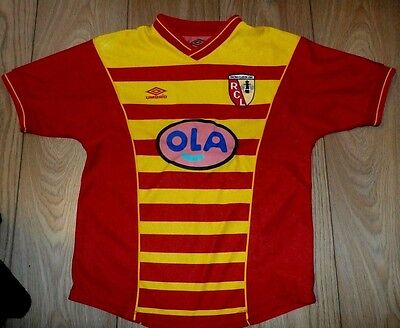 Racing Club de Lens Football Shirt - Medium Boys - Umbro RC Jersey France Soccer