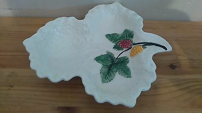 Shorter & Son Raspberry Leaf Dish - Hand Painted