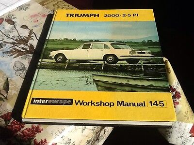 Intereurope Workshop  Manual Triumph 2000 & 2.5PI from 1963 onwards.