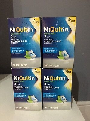 Niquitin Fresh Mint 2mg Gum. 96 Pieces - PACK OF 2........ Expires 2018