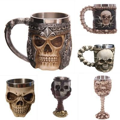 Gothic 3D Skull Skeleton Decorative Tankard Mug Drinking Cup Halloween Gift PICK