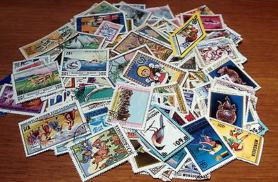 250 Off Paper Mongolia Stamps, Good Selection.