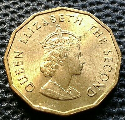 Queen Elizabeth II Balliwick Of Jersey 1964 One Quarter Of A Shilling Coin