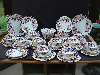Art Nouveau Imari 39 Piece Tea Set Barker Brothers Meir China 11 Trios Etc 1910