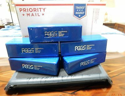 Blue PCGS Storage Boxes -  Lot of (5) - Each holds (20) holdered coins