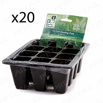 20 x SMALL Seedling Pot Planter Tray 12 CELL Garden Plant Growing Seeds/Cutting