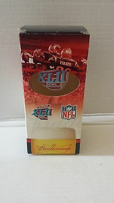 Super Bowl Xlii 42 Commemorative Glass Budweiser Pint New York Giants New Nib