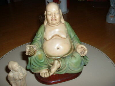 collectable buddha with a small one hand painted made in italy