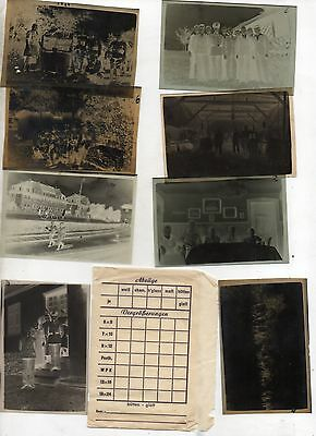 Original Ww2 German Photograph Negatives X8 In Packet-Troops--