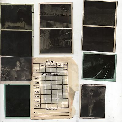 Original Ww2 German Photograph Negatives X11 In Packet-Troops-Places