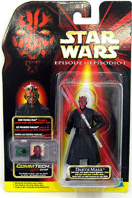 Talk Jedi Darth Maul Star Wars Episode 1 Double-Bladed Lightsaber CommTech Chip