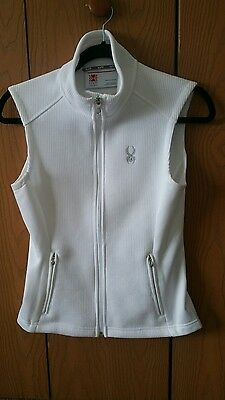 Women's Spyder Core Sweater Vest New Without Tags White Small S Fleece
