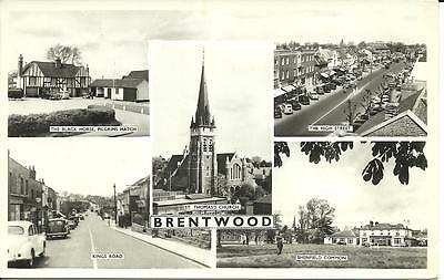 Brentwood, Essex - Real Photo Multiview Postcard