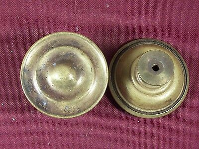 Pair of Antique Drawer Pull Knobs Part Hardware Dresser Pulls Brass 1 3/4""