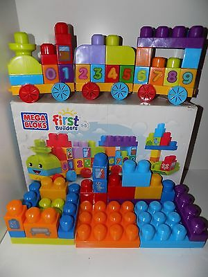 Mega Bloks First Builders 123 Learning Train Set 81209 Complete In Box