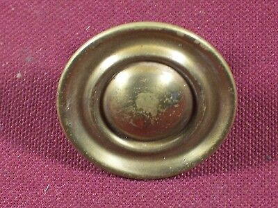 Pair of Antique Drawer Pull Knobs Part Hardware Dresser Pulls Brass 1 1/4""