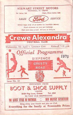 CREWE v LINCOLN 1966/67 DIVISION 4