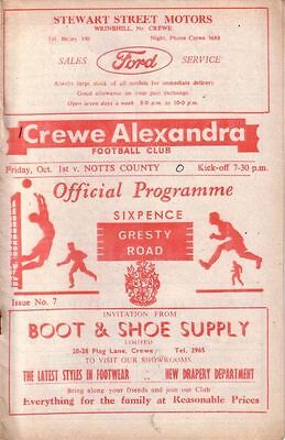 CREWE v NOTTS COUNTY 1965/66 DIVISION 4