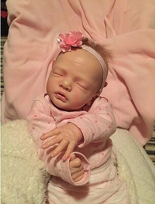 Reborn Baby Girl Julietta By Natalie Blick Rooted Hair 18""