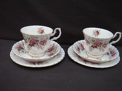 Two Royal Albert Trios Trio Lavender Rose Cups Saucers And Plates # 2
