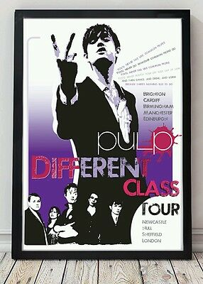 Pulp poster. Celebrating famous venues and gigs. Specially created.