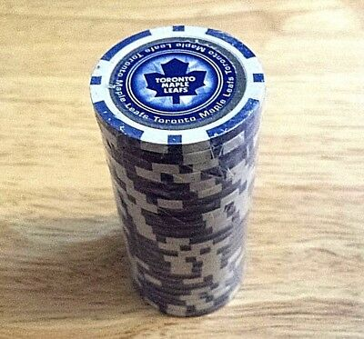 25pcs - 11.5 grams TORONTO MAPLE LEAFS  POKER CHIPS also GOLF BALL MARKERS    T1