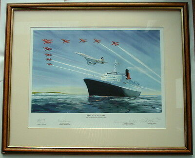 Limited Edition Individually Hand Signed Framed Print 'Seconds To Spare' Tribute