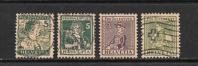 Switzerland. 1915-17. Pro Juventute Mounted Mint And Used Group.