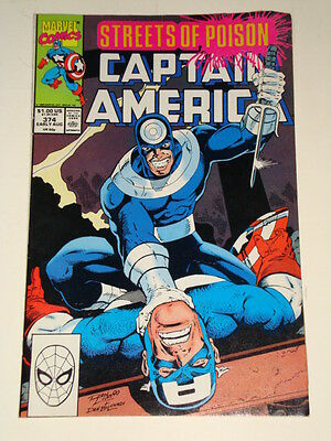 Marvel Captain America Issue # 374 Aug 90 'falling Out' Av-Gd Condition