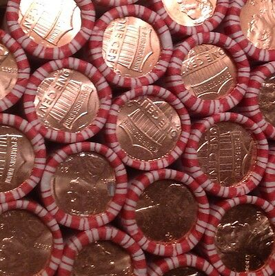 10 Bu Rolls Of 2017 D Lincoln Pennies Straight From A Fresh,sealed Bank Box!!!