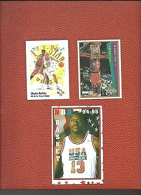 EXTREMELY RARE 1994-5 Greek Double Sided Cards w/ Sir. Charles Barkley +empty pk